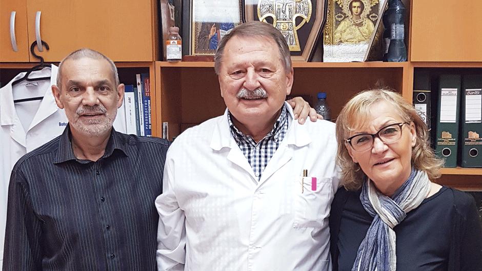 Vladan Vešković doktorom Borisovim dok je bio na lečenju u Moskvi